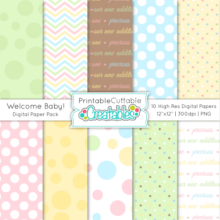 Baby Blocks Lowercase Alphabet Set - SVG Cuts & Clipart