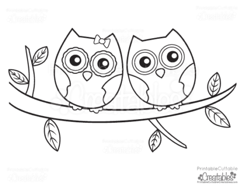 Cute Owl Printable Coloring Pages - Printable Coloring Pages