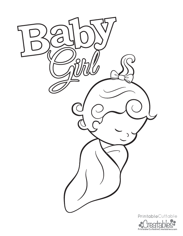 get free high quality hd wallpapers baby girl coloring pages to print - Baby Girl Coloring Pages Print