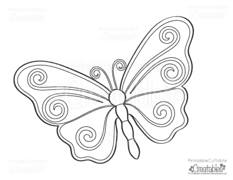 butterfly-free-coloring-page