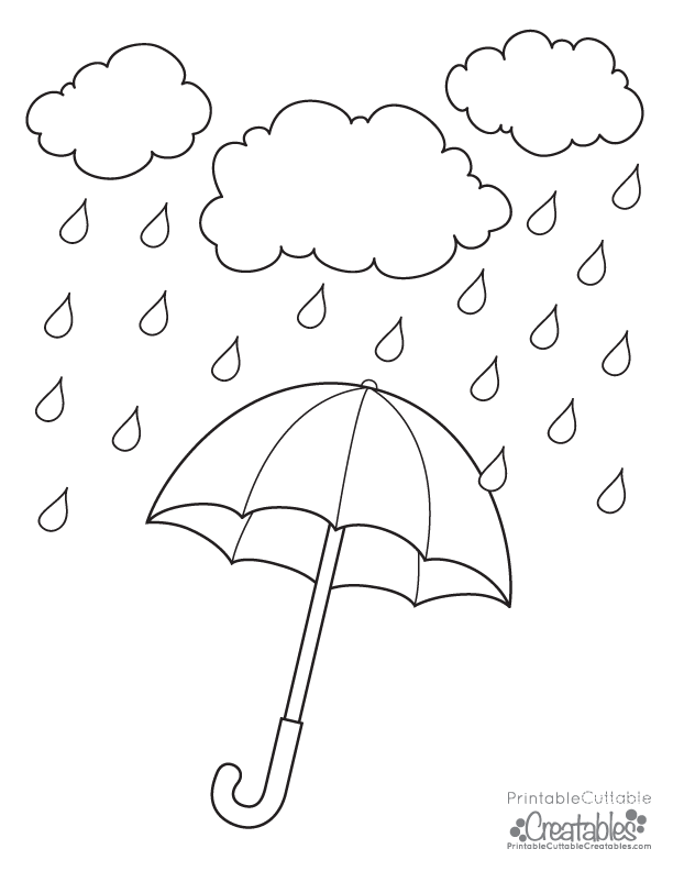 Free Coloring Pages Rainy Day