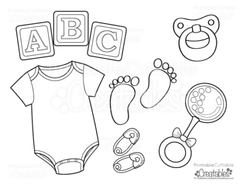 Coloring pages baby boy baby shower coloring pages boy baby shower - Coloring Pages Printable Cuttable Creatables