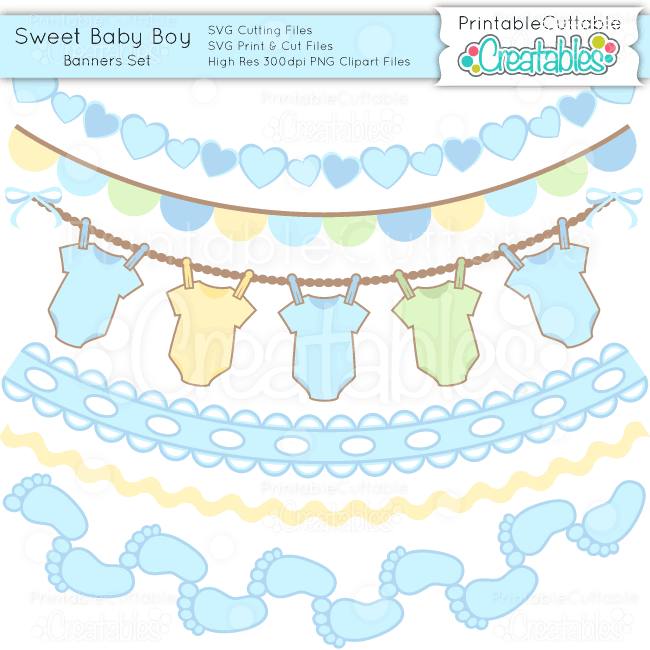 Sweet-Baby-Boy-Banner-Set