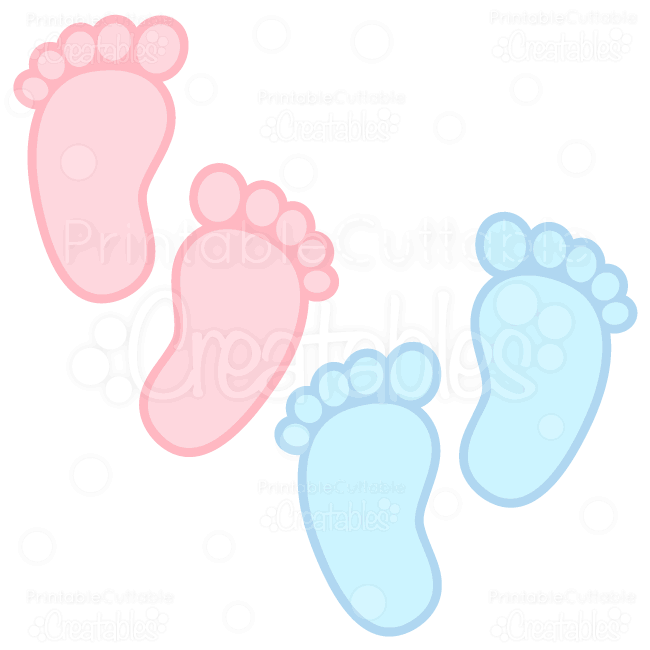 Baby footprints free svg cuts clipart for Footprint cut out template