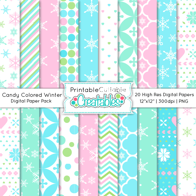 Candy-Colored-Winter-Digital-Paper-Pack