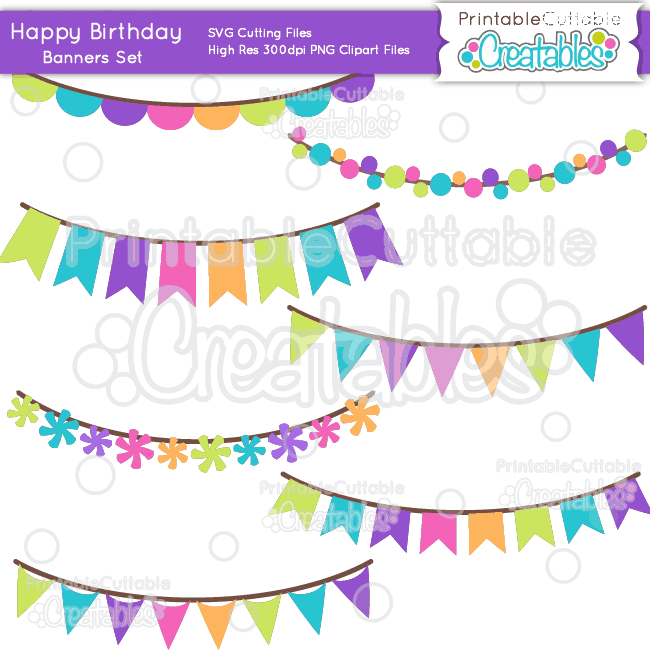 Birthday-Banners-Set-SVG-Cut-Files-Clipart