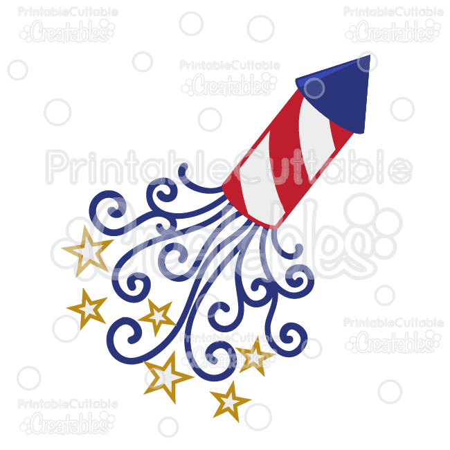 patriotic swirls firecracker svg cut file   clipart Cartoon Firecracker Fourth of July Firecracker Clip Art