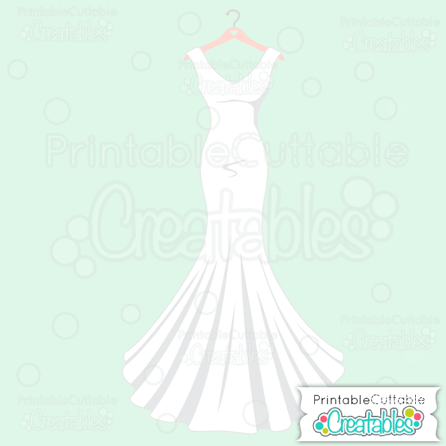Wedding Gown SVG Cut File
